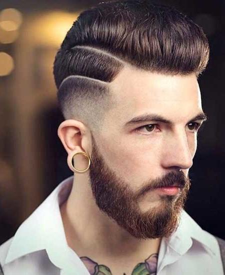 cortes de pelo con doble linea separada