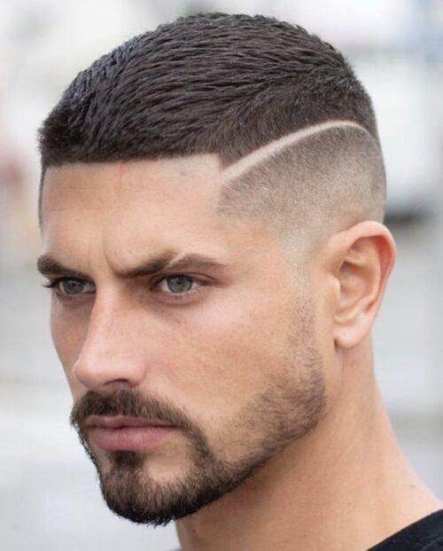 cortes de pelo con lineas y cejas simple