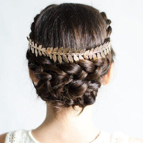 peinados para 15 años recogido griego