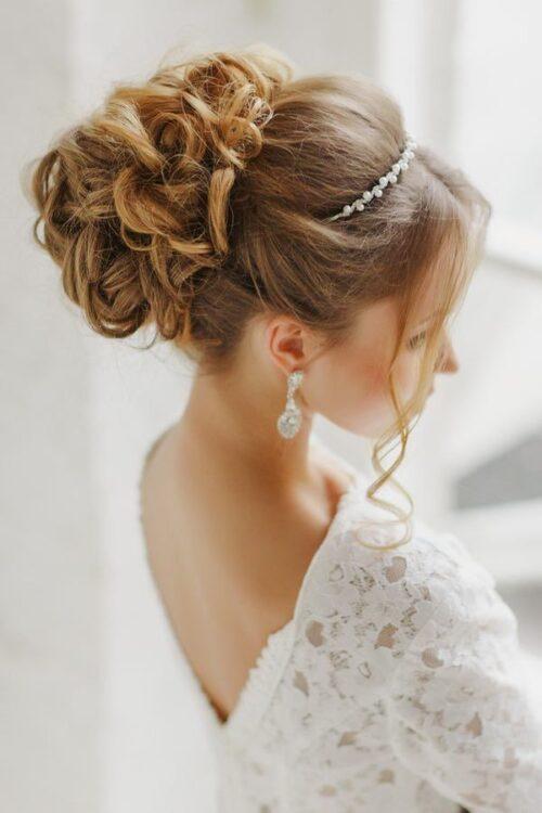 recogidos altos clasicos para novias