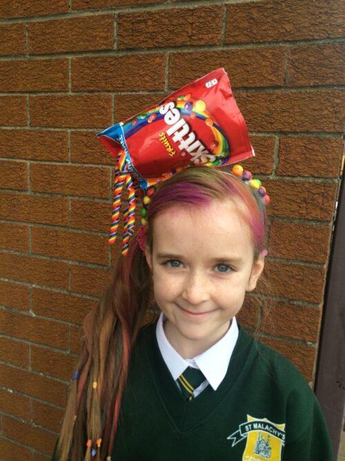 Peinados locos para niñas con dulces