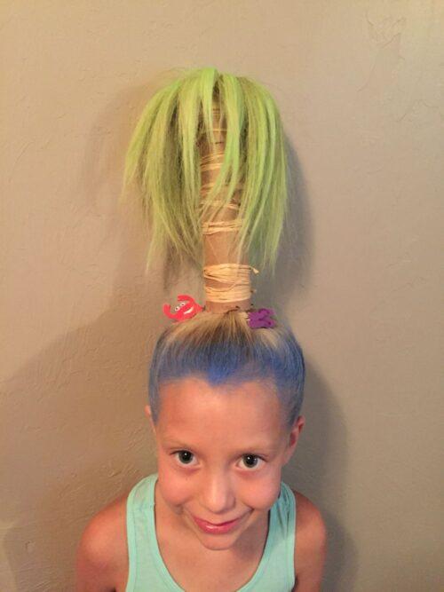 peinado de palmera isla para niña
