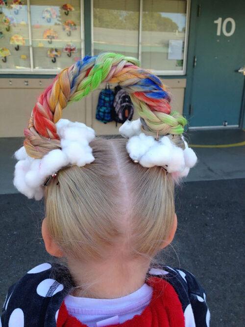 Peinados locos para niñas arcoiris