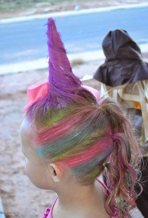 peinado loco de unicornio