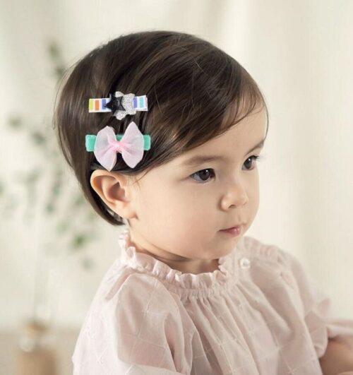 peinado para niña con pinzas