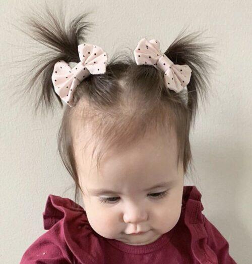 peinados para bebés con lacitos