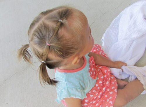 peinados para bebes con ligas