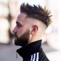 cortes de pelo facheros hombre fade spiky largo