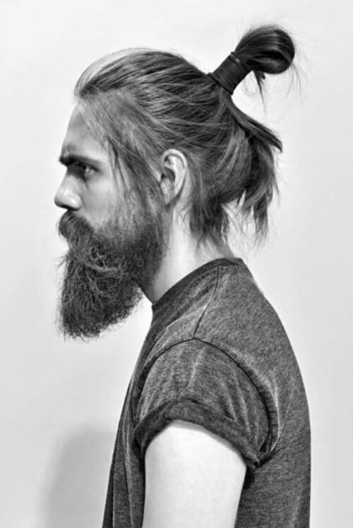 cortes de pelo facheros hombre largo coleta