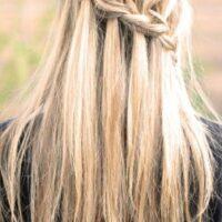 peinado para pelo lacio trenzas cascada