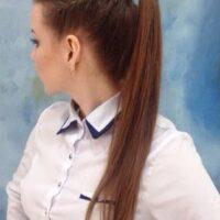 peinado pelo lacio coleta alta y trencitas
