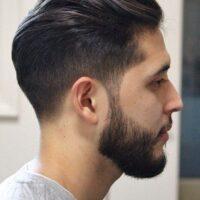 corte lacio hacia atrás para hombres