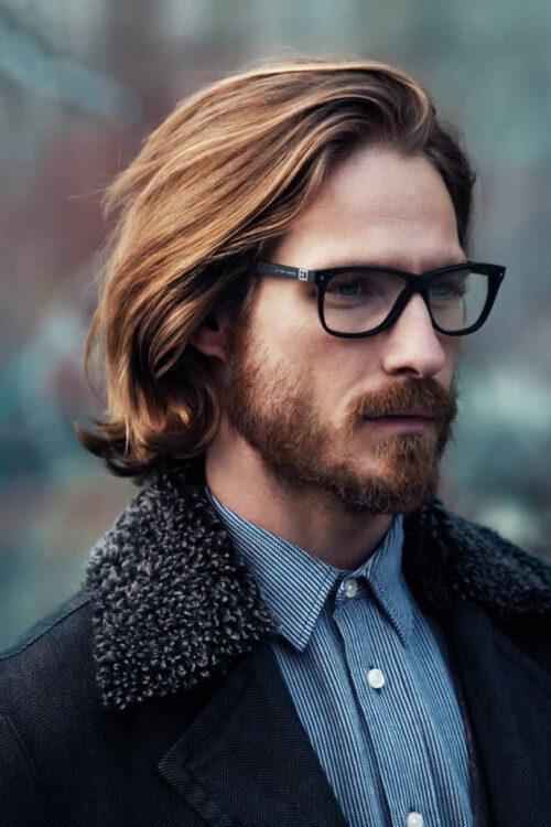 peinado cabello lacio largo hombres
