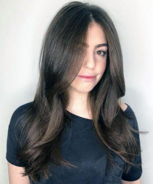 Peinados grafilado largo para verse delgada