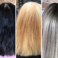 barrido de color antes y después